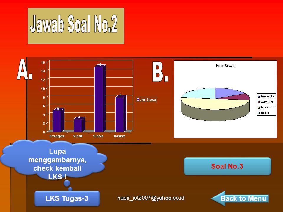 nasir_ict2007@yahoo.co.id Lupa menggambarnya, check kembali LKS ! LKS Tugas-3 Soal No.3 Back to Menu