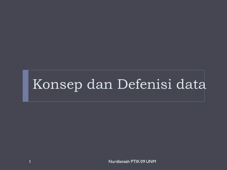 Konsep dan Defenisi data 1Nurdiansah PTIK 09 UNM