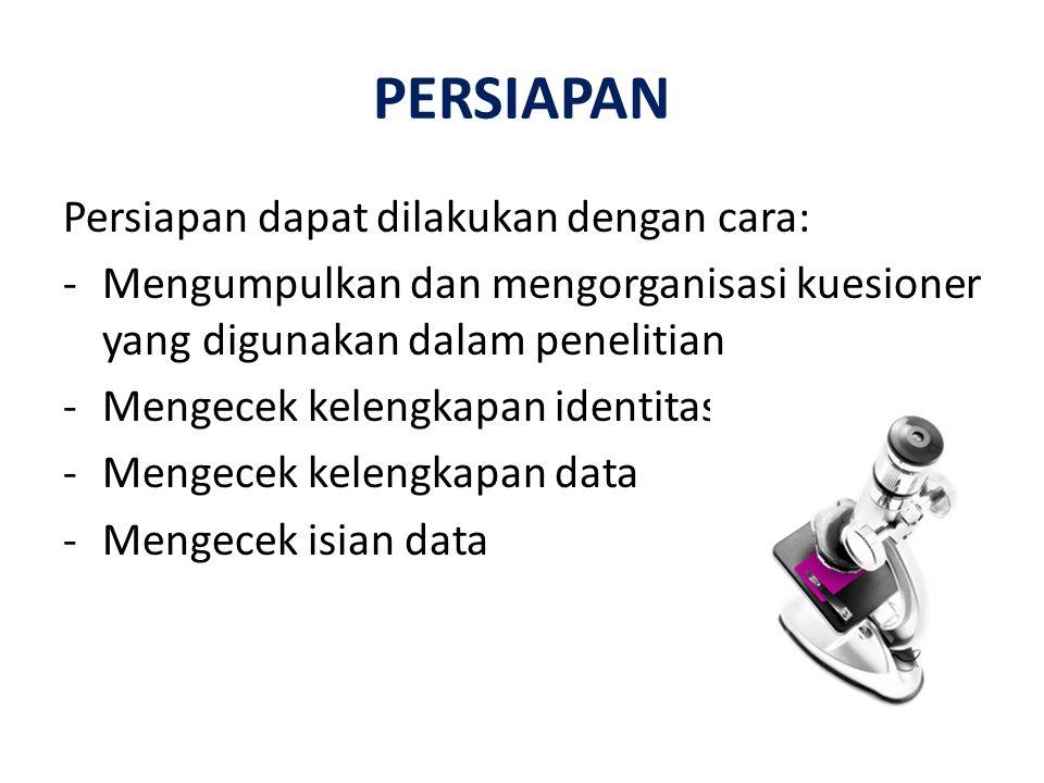 CODING DATA Coding Data - Merupakan suatu proses penyusunan secara sistematis data mentah (data dikuesioner) ke dalam bentuk yg mudah dibaca oleh program komputer (Prasetyo & Jannah, 2005)\ -coding data berguna untuk mempermudah dalam memasukkan dan membaca data.