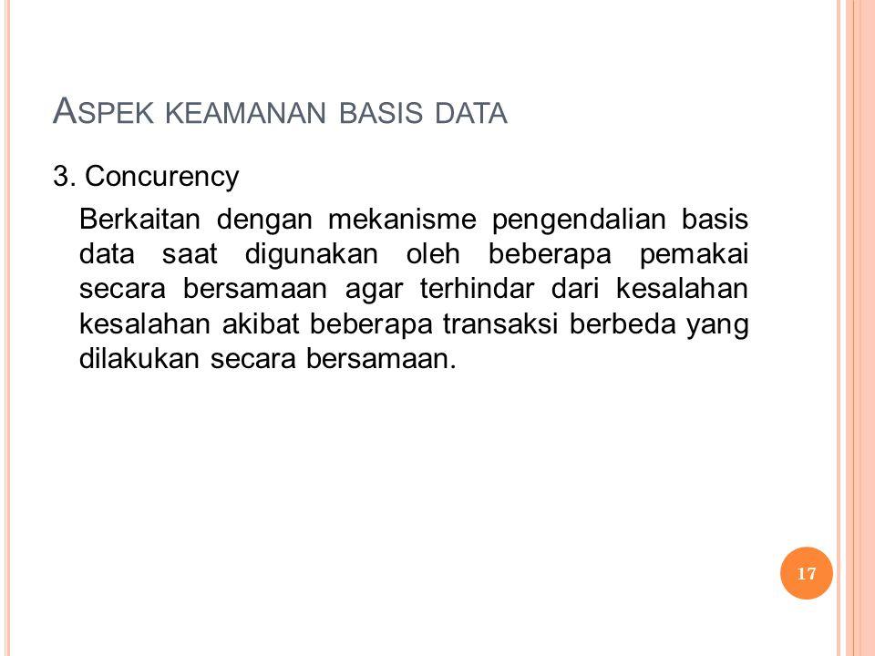 A SPEK KEAMANAN BASIS DATA 3.