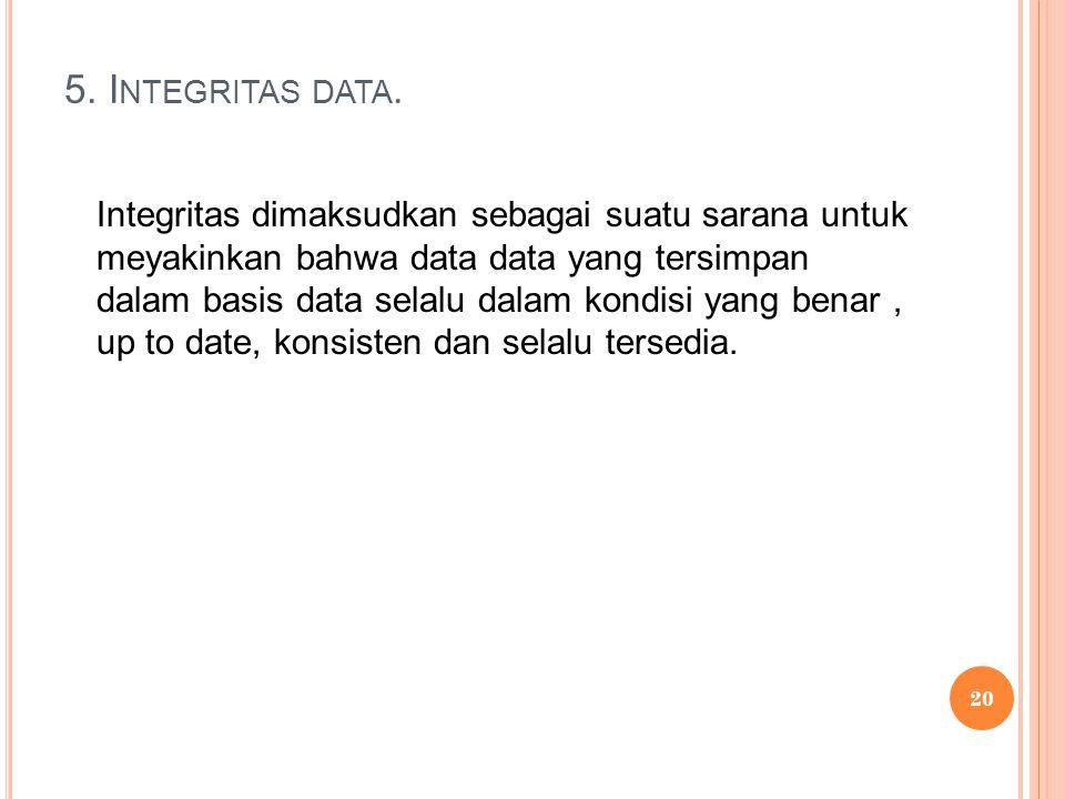 5. I NTEGRITAS DATA.