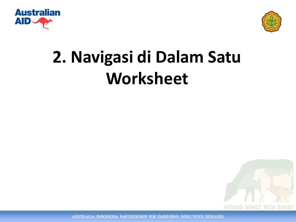 AUSTRALIA INDONESIA PARTNERSHIP FOR EMERGING INFECTIOUS DISEASES a) Cara mengeser tampilan Layar dgn Scroll Bar 2.