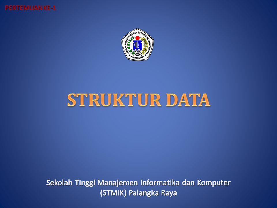 Mata Kuliah STRUKTUR DATA SKS : 4 Penilaian: Tugas-Tugas, UTS, UAS Kehadiran, dll: Peraturan Akademik