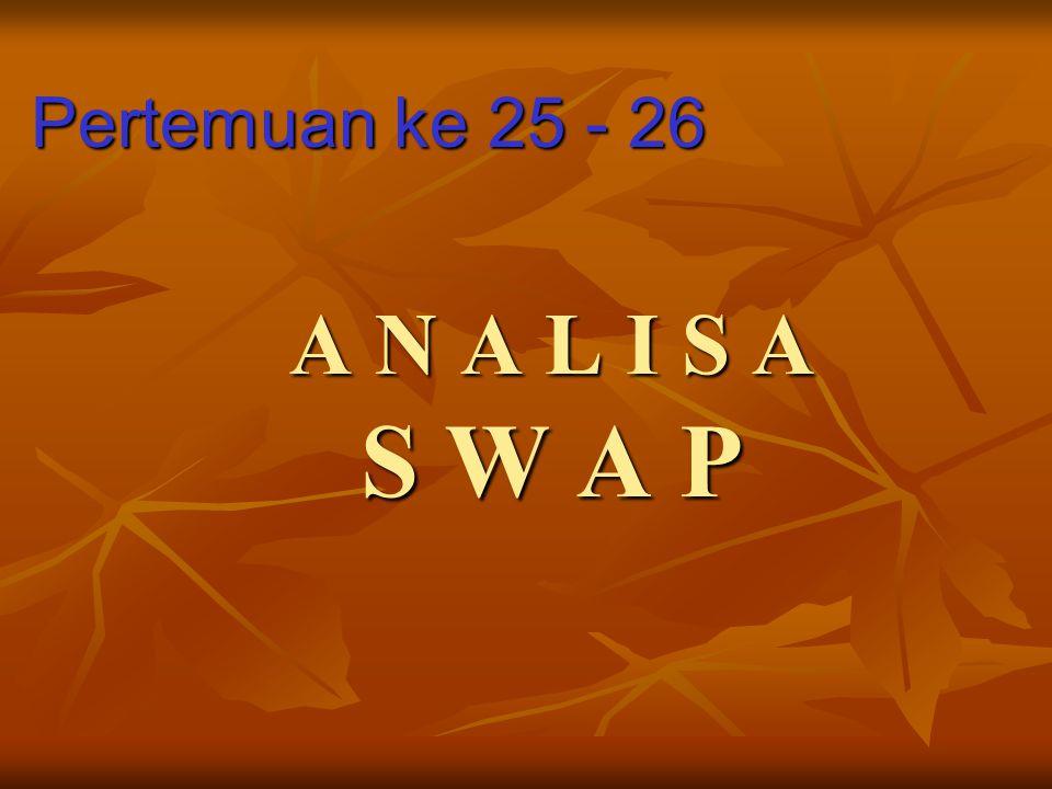 A N A L I S A S W A P Pertemuan ke 25 - 26