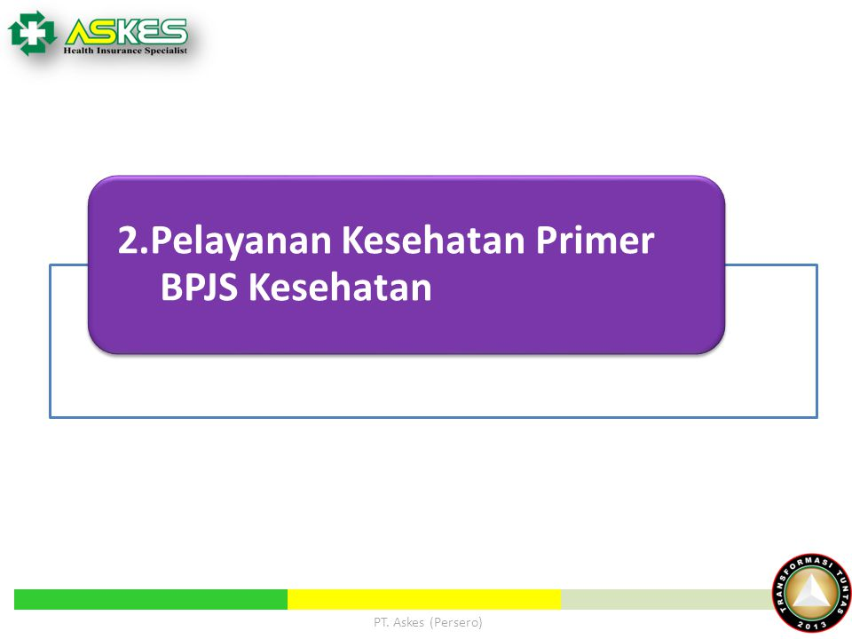 2.Pelayanan Kesehatan Primer BPJS Kesehatan PT. Askes (Persero)