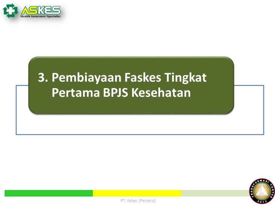 3. Pembiayaan Faskes Tingkat Pertama BPJS Kesehatan PT. Askes (Persero)