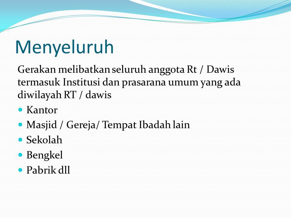 SERENTAK Dilaksanakan dalam waktu yang bersamaan sesuai kesepakatan anggota Dawis