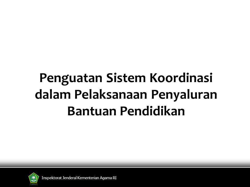 Inspektorat Jenderal Kementerian Agama RI Penguatan Sistem Koordinasi dalam Pelaksanaan Penyaluran Bantuan Pendidikan