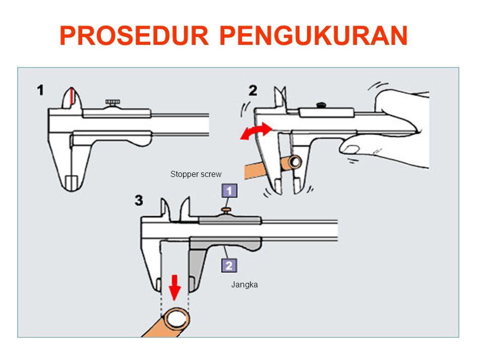 PROSEDUR PENGUKURAN Stopper screw Jangka