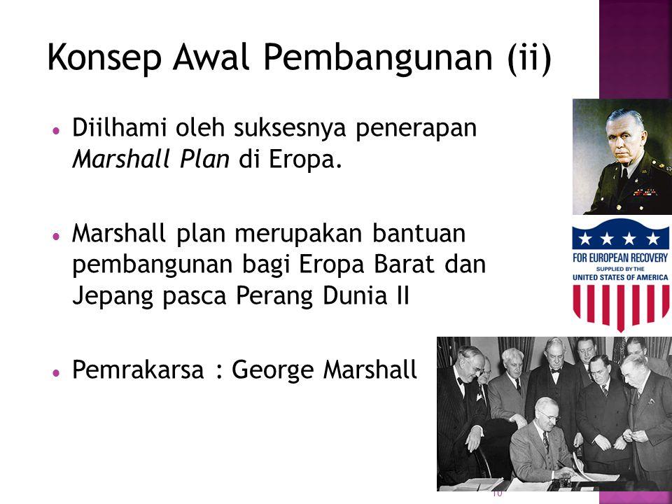 10 DDiilhami oleh suksesnya penerapan Marshall Plan di Eropa.