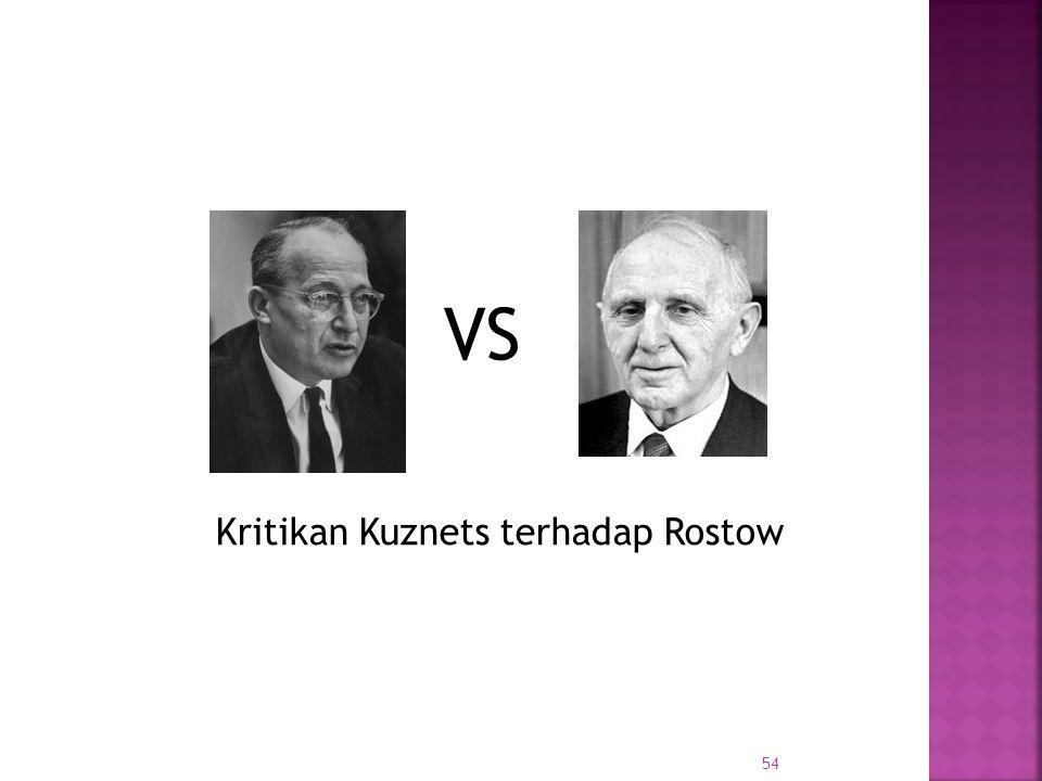 54 Kritikan Kuznets terhadap Rostow VS