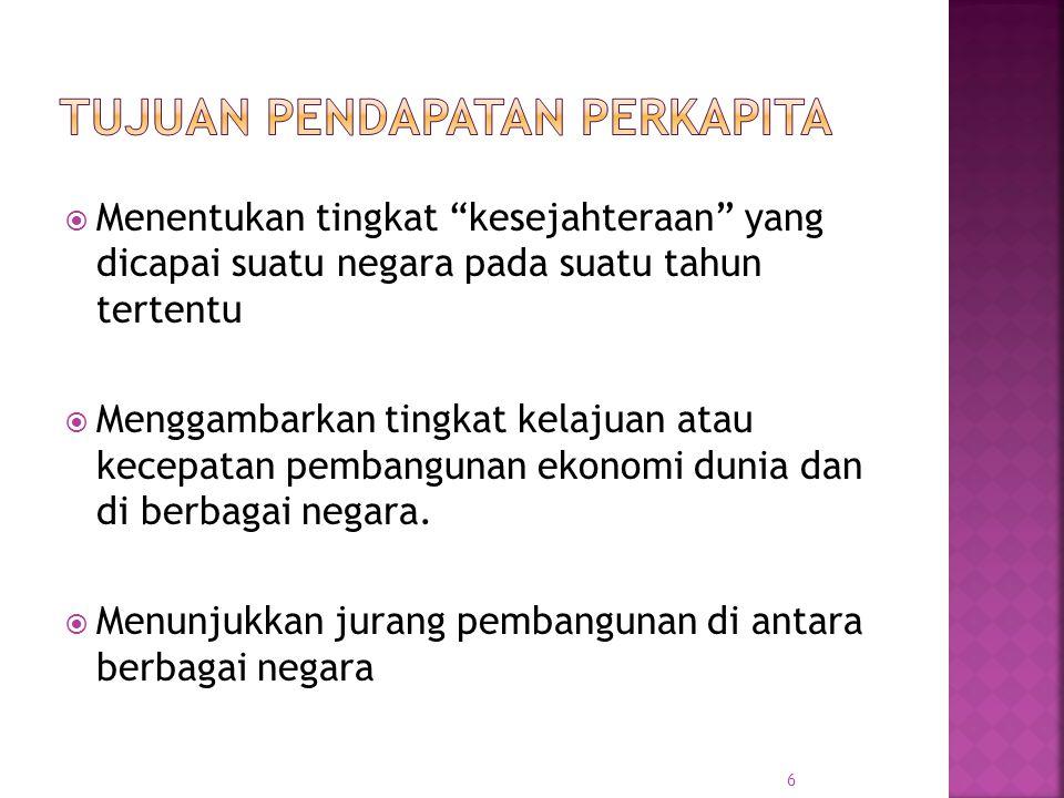 17 Konsep Pembangunan Era 1970an (ii) Dudley Seers (1920–1983) : … what has been happening to poverty.