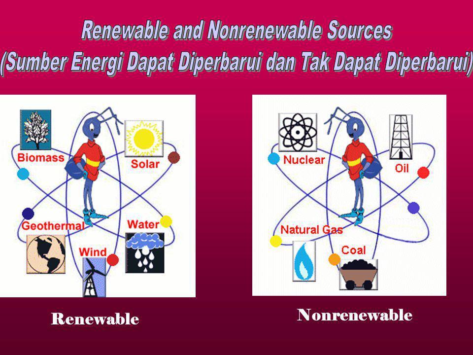 Renewable Nonrenewable
