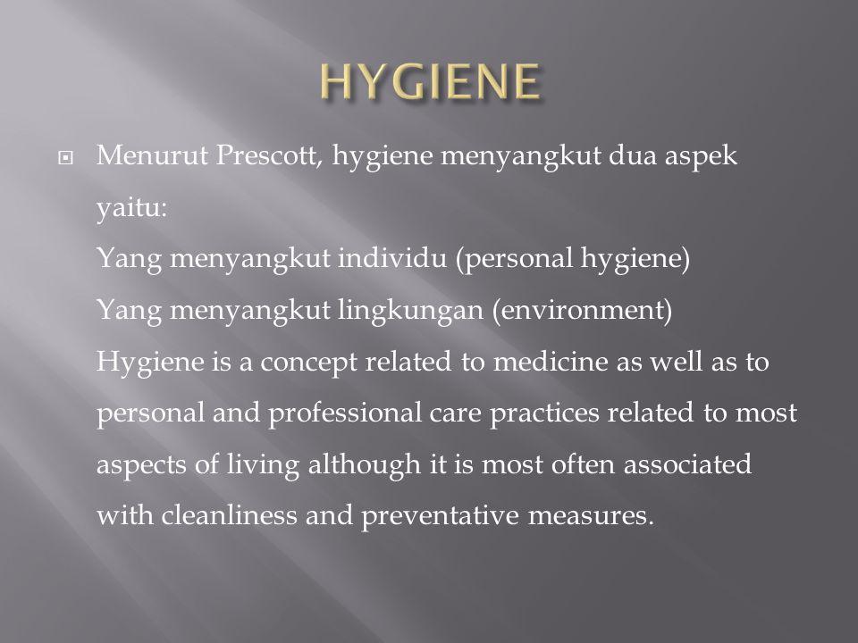  Sanitasi adalah usaha kesehatan preventif yang menitikberatkan kepada kegiatan usaha kesehatan hidup manusia.
