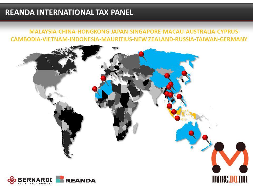 REANDA INTERNATIONAL TAX PANEL MALAYSIA-CHINA-HONGKONG-JAPAN-SINGAPORE-MACAU-AUSTRALIA-CYPRUS- CAMBODIA-VIETNAM-INDONESIA-MAURITIUS-NEW ZEALAND-RUSSIA-TAIWAN-GERMANY