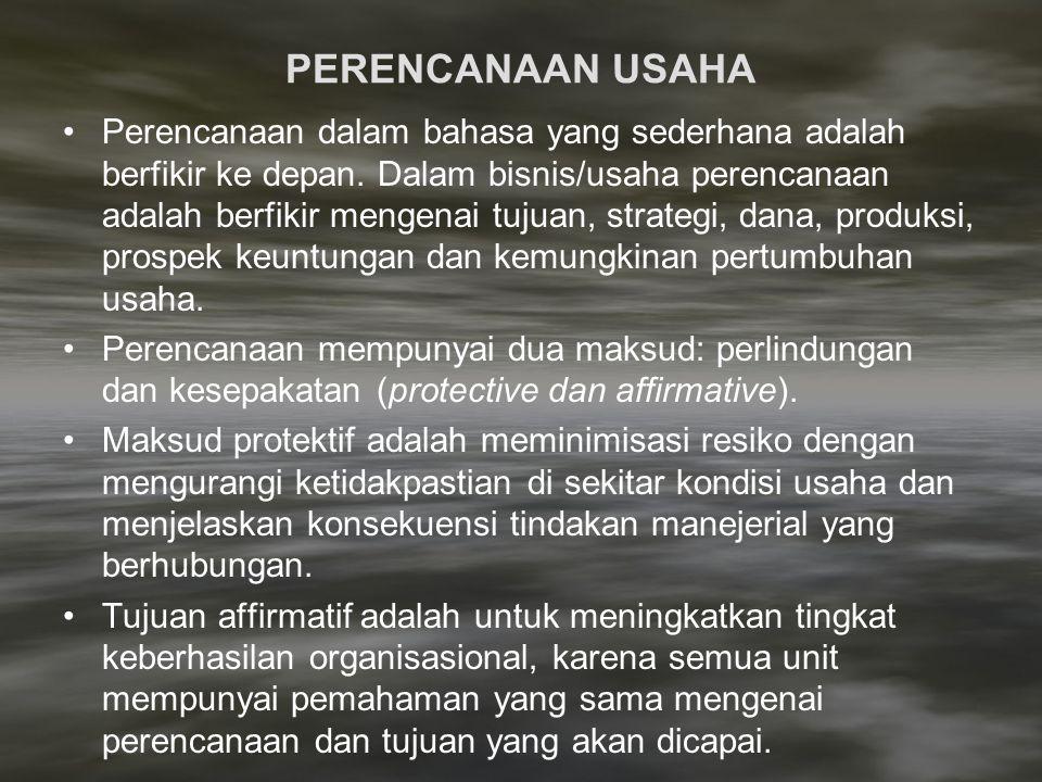 Prinsip dan Tahap Perencanaan 1.Perencanaan Harus Realistis; Rencana harus didasarkan atas sumberdaya yang tersedia.