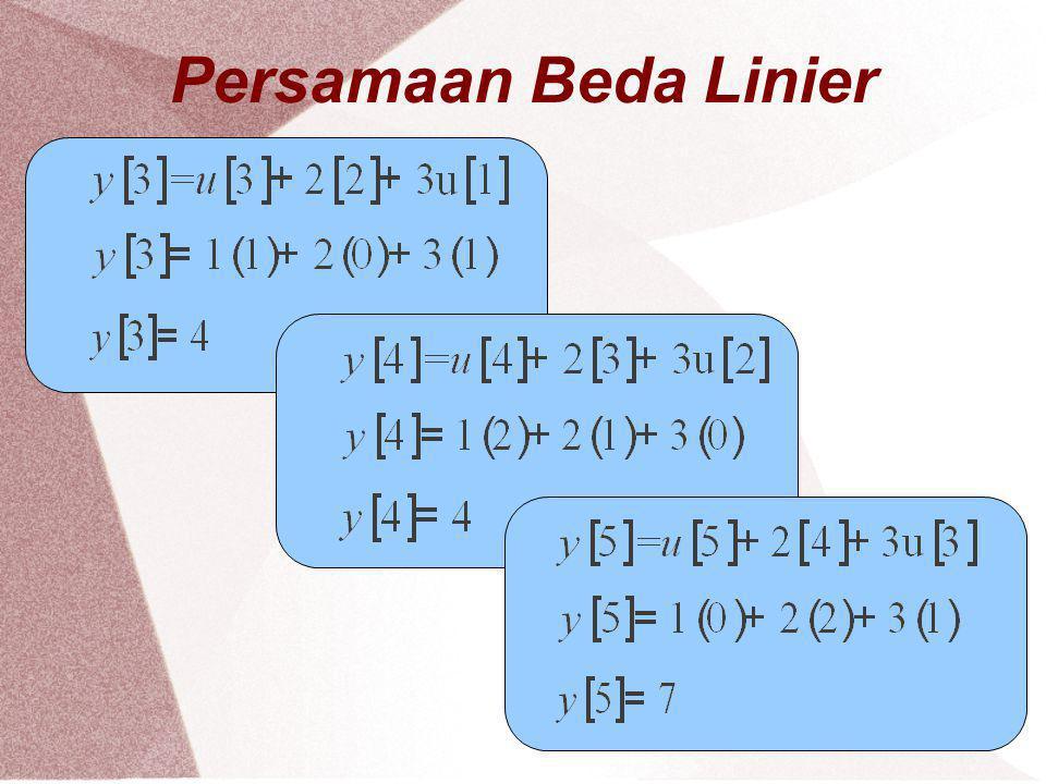 Persamaan Beda Linier