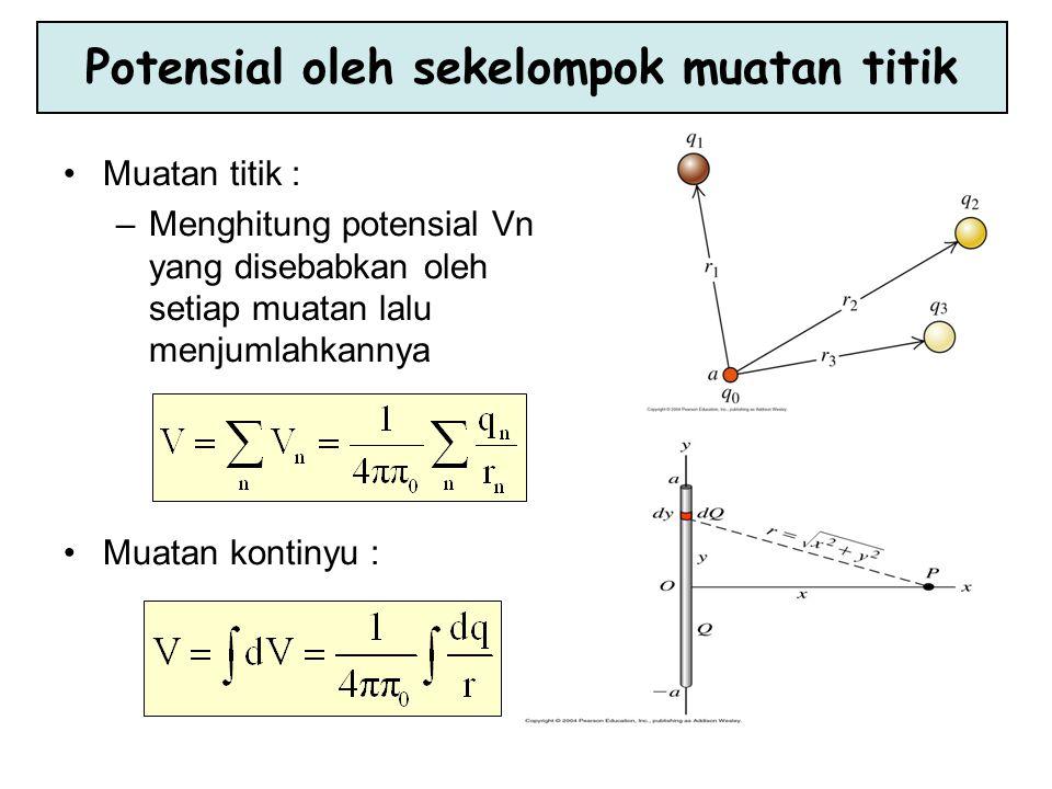 Satuan Potensial Listrik Karena potensial listrik adalah energi potensial elektrostatik per satuan muatan, maka satuan SI untuk beda potensial adalah joule per coulomb atau volt (V).