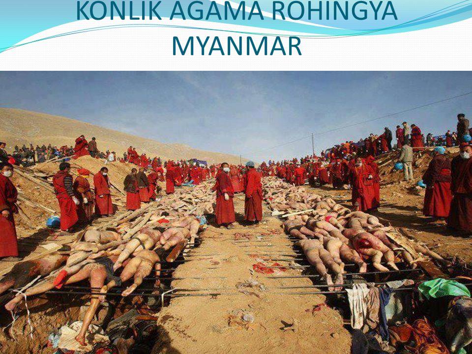 KONLIK AGAMA ROHINGYA MYANMAR