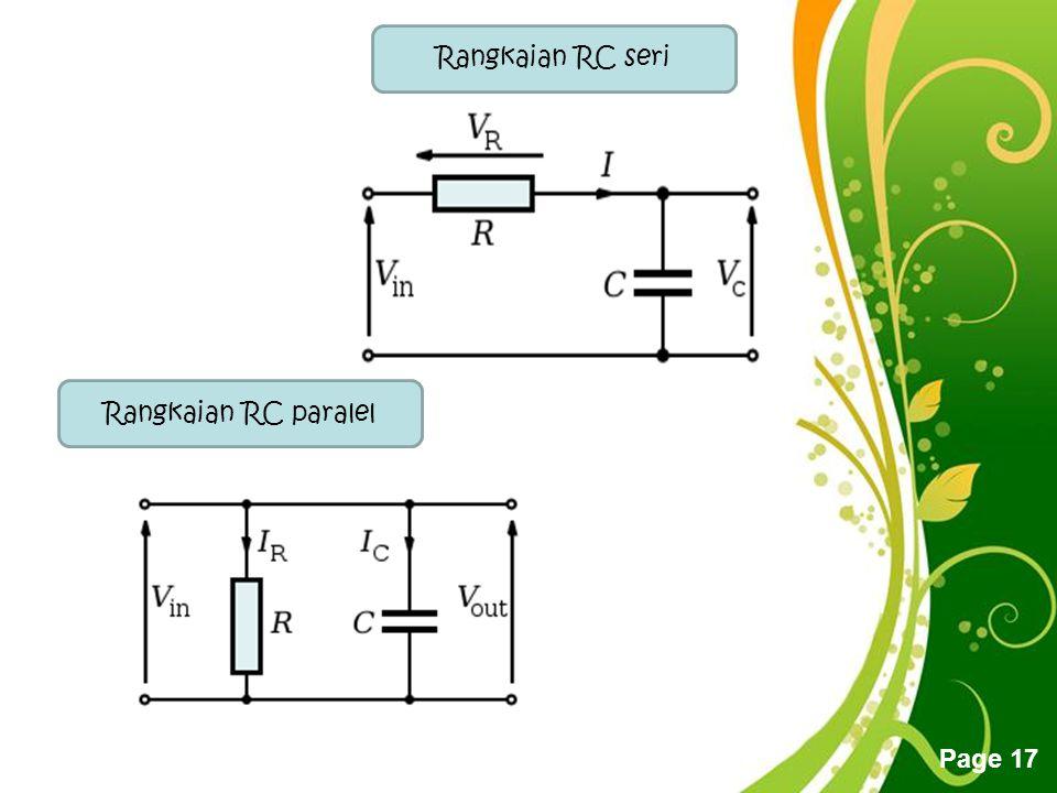 Free Powerpoint Templates Page 17 Rangkaian RC paralel Rangkaian RC seri