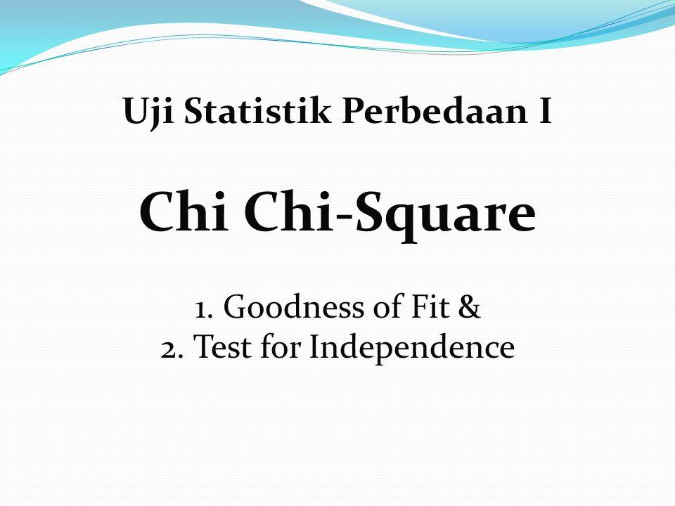 Persyaratan; Chi Kuadrat Distribusi Data Normal Bentuk Data Nominal atau ordinal Random Bebas dalam observasi Ukuran sampel bebas!!!