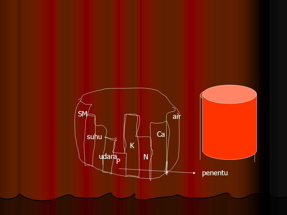 P K N Ca air SM suhu udara penentu