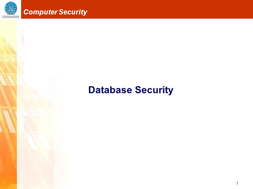 12 Computer Security Database Security 3.