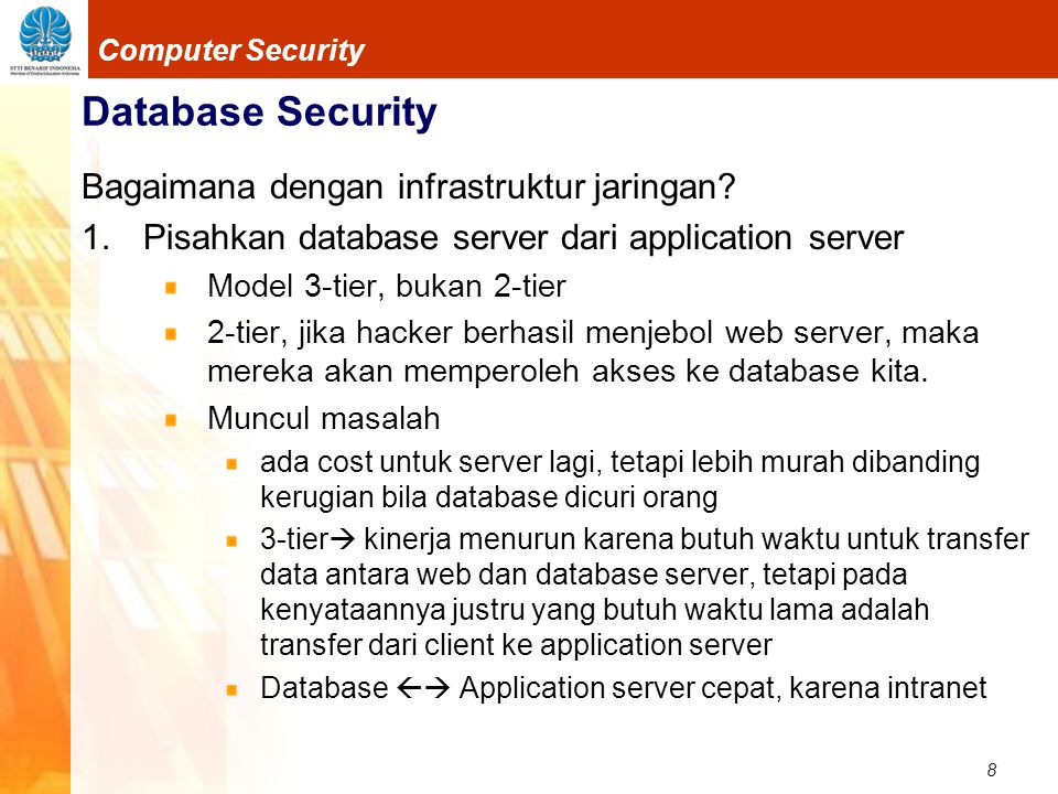 9 Computer Security Database Security 2.