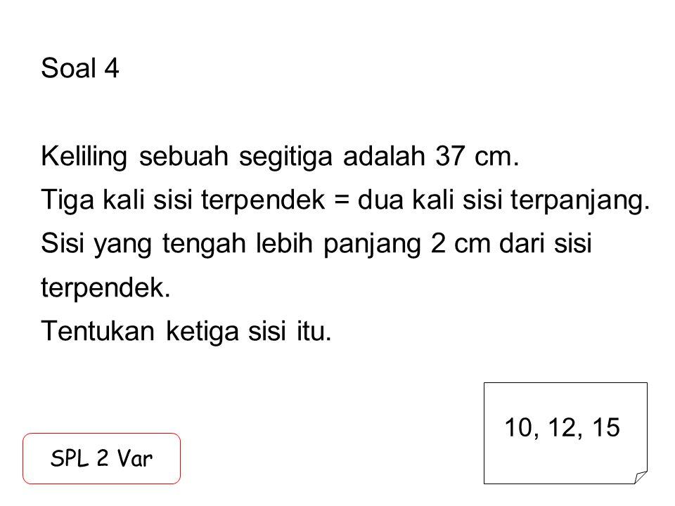 Soal 15 Perbandingan umur Alfa : Beta : Cinta = 4 : 6 : 11 Tiga tahun lalu, jumlah usia mereka 54 tahun.