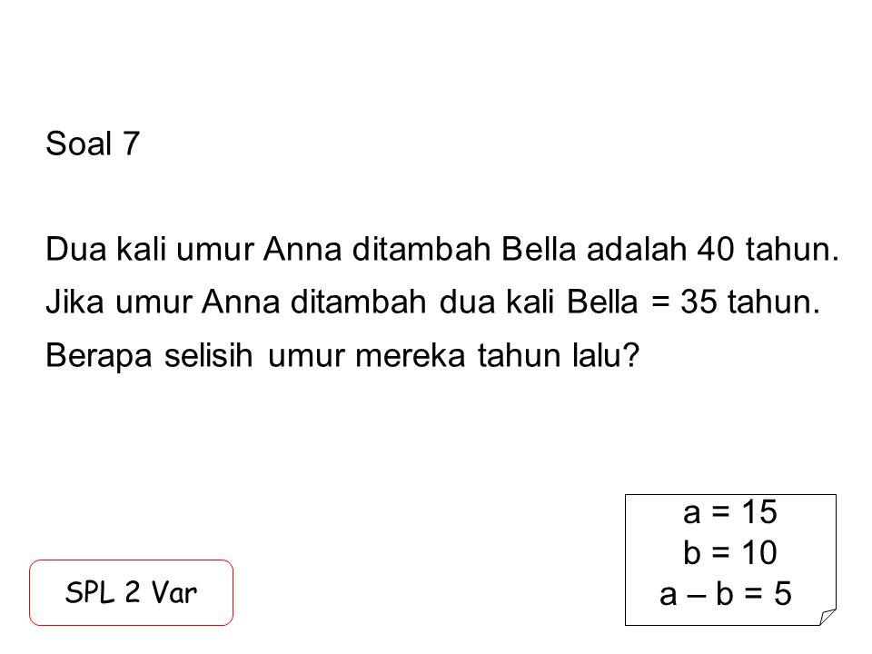 Soal 8 Anton dapat mengerjakan soal Math dalam 3 menit sedangkan Bernard 9 menit.