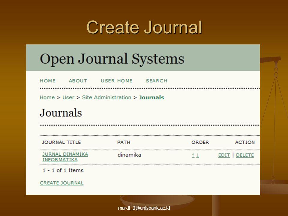 mardi_2@unisbank.ac.id Create Journal