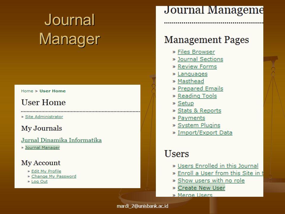mardi_2@unisbank.ac.id Journal Manager