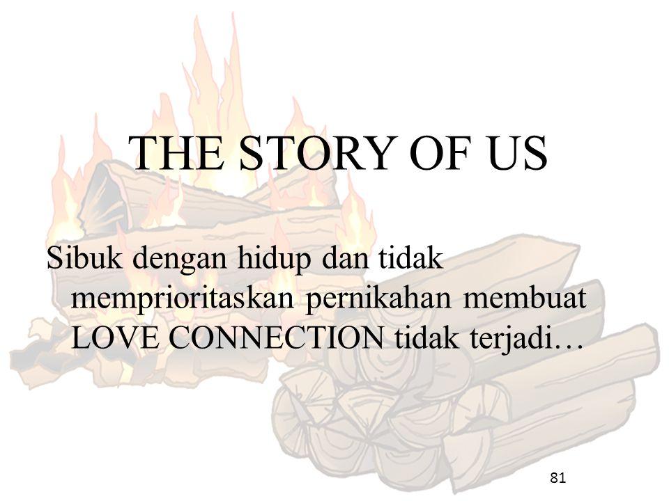 81 THE STORY OF US Sibuk dengan hidup dan tidak memprioritaskan pernikahan membuat LOVE CONNECTION tidak terjadi…