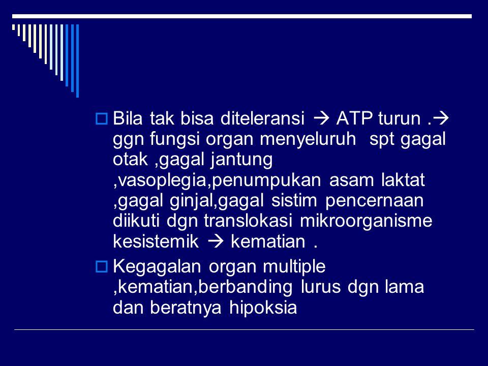  Bila tak bisa diteleransi  ATP turun.