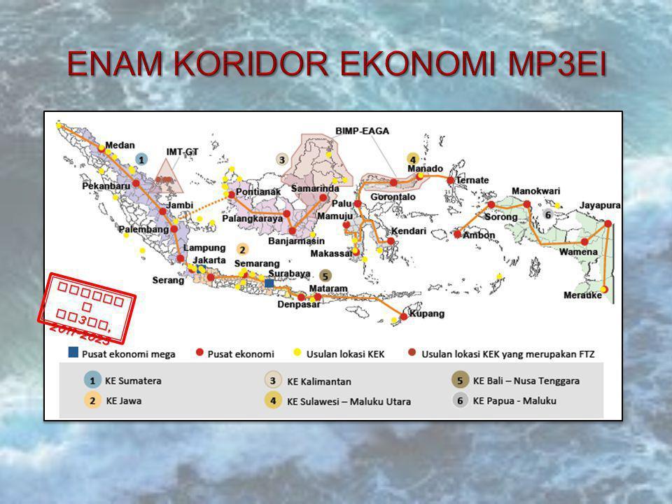 Kerangka Kerja Konektivi tas Nasional MP 3 EI, 2011- 2015