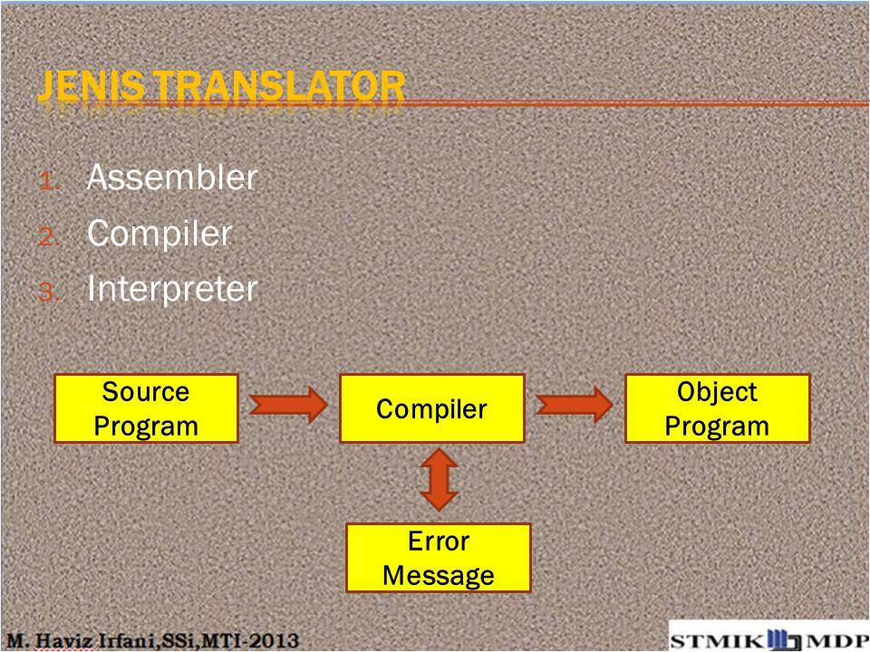 Interpreter cocok untuk membuat / menguji coba modul / sub-routine / program-program kecil.