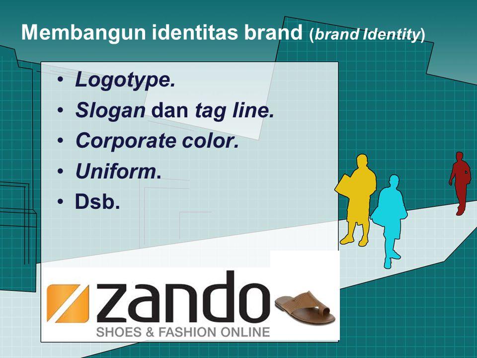 Membangun identitas brand (brand Identity) Logotype.