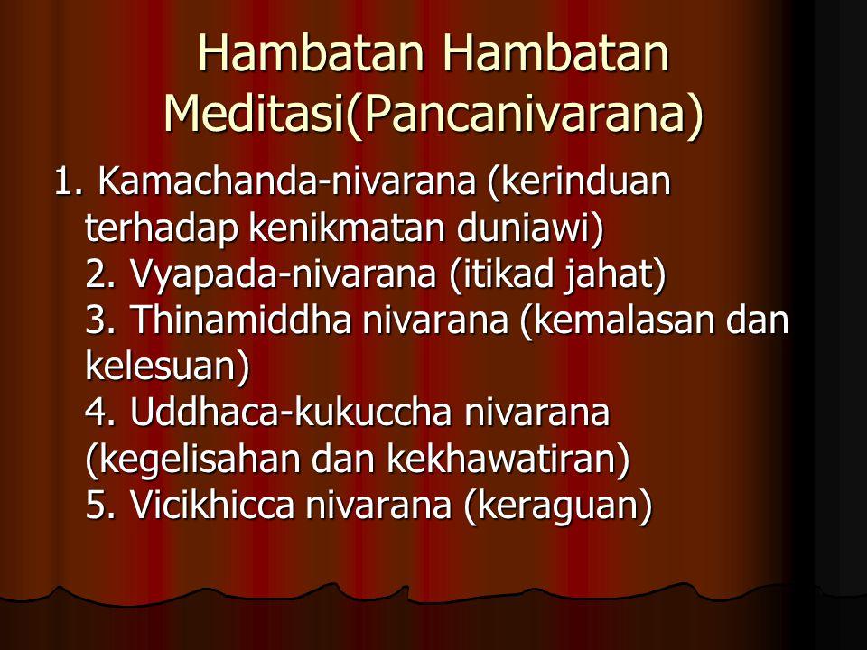 Hambatan Hambatan Meditasi(Pancanivarana) 1.