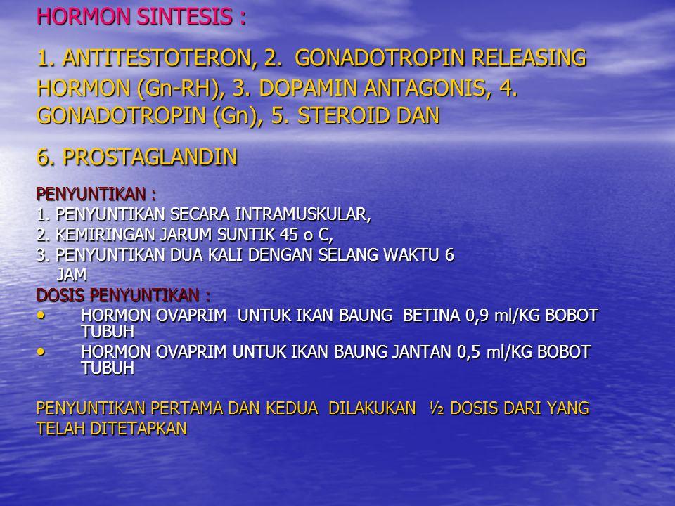 HORMON SINTESIS : 1.ANTITESTOTERON, 2. GONADOTROPIN RELEASING HORMON (Gn-RH), 3.
