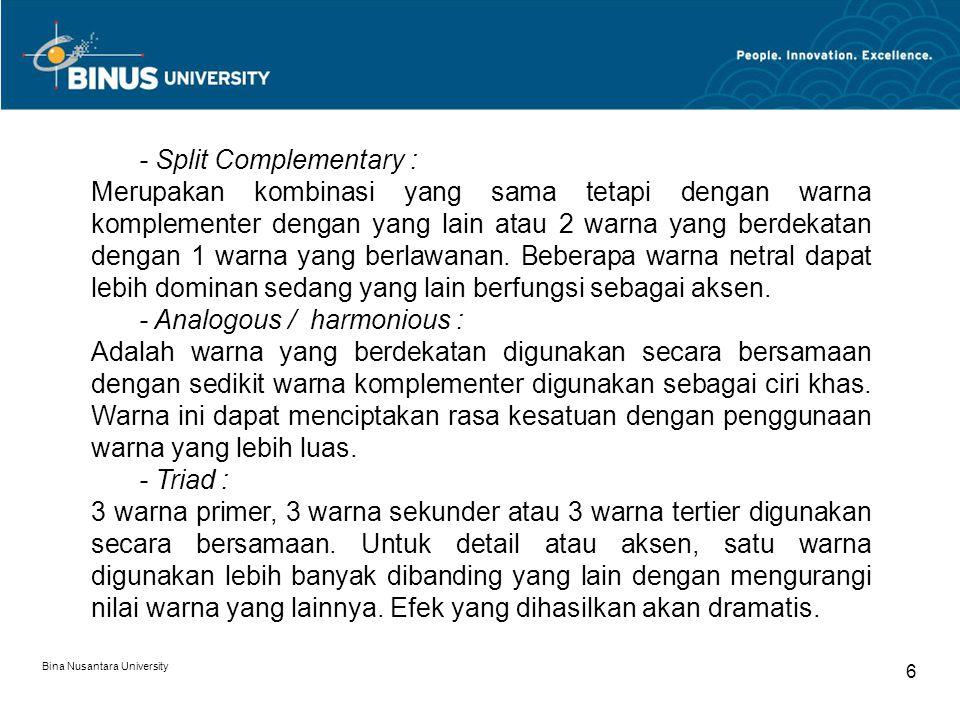 Bina Nusantara University 27