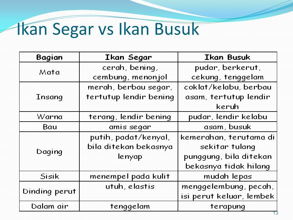 13 Ikan Segar vs Ikan Busuk