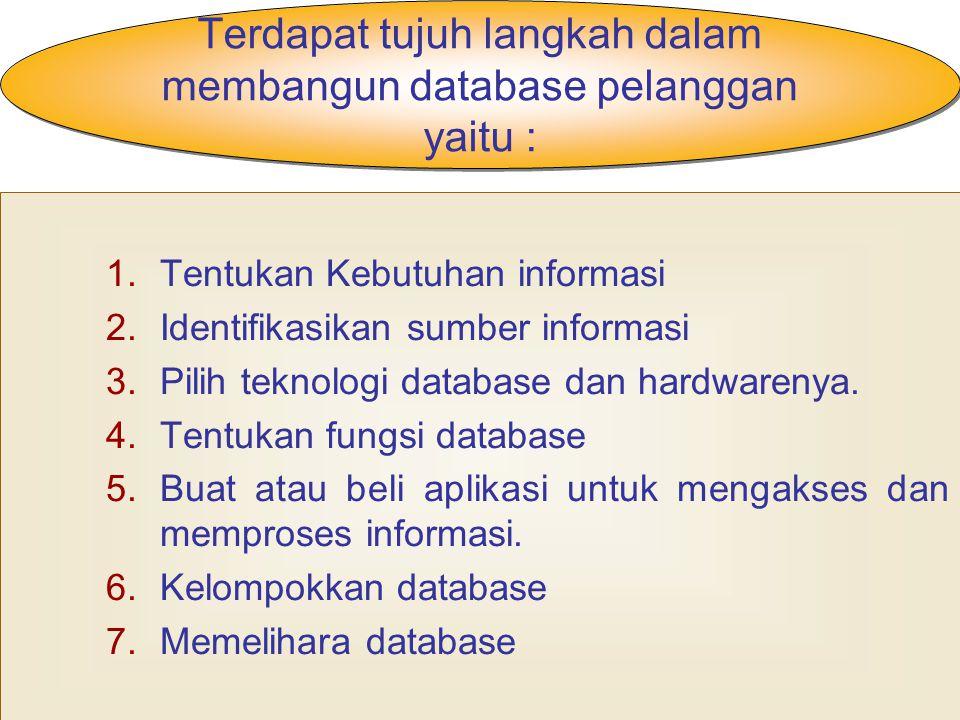 Mengintegrasikan data : Di dalam perusahaan, mempunyai beberapa database pelanggan.