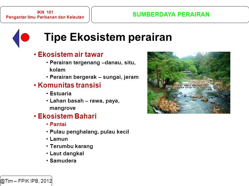 @Tim – FPIK IPB, 2012 IKN 101 Pengantar Ilmu Perikanan dan Kelautan SUMBERDAYA PERAIRAN