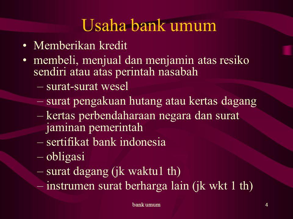 bank umum5 Usaha bank umum.