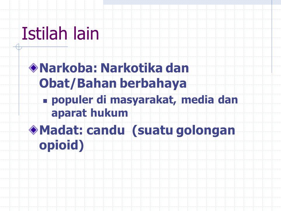 NAPZA mengacu kepada Narkotika dan Psikotropika Undang-undang No.5 tahun 1997 tentang Psikotropika dan Undang-undang No.22 tahun 1997 tentang Narkotika