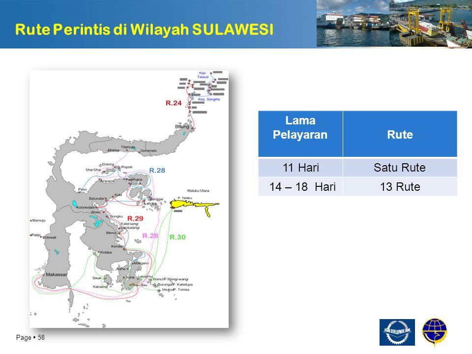 Page  59 USULAN PERUBAHAN RUTE R-30 Untuk Rute R-30, Pelabuhan Bobong di Pulau Taliabu diusulkan untuk tidak disinggahi pada rute ini karena tidak efisien dalam mengakomodir pergerakan pemakai jasa dari Kendari ke Kepulauan Wanci dan sekitarnya Diusulkan untuk ruteini diisi dengan moda penyeberangan R - 30