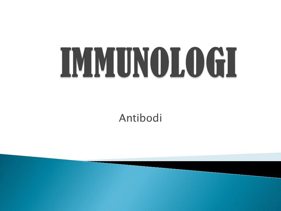  Adalah substansi khusus yang dibentuk oleh tubuh sebagai respons terhadap stimulasi antigenik.