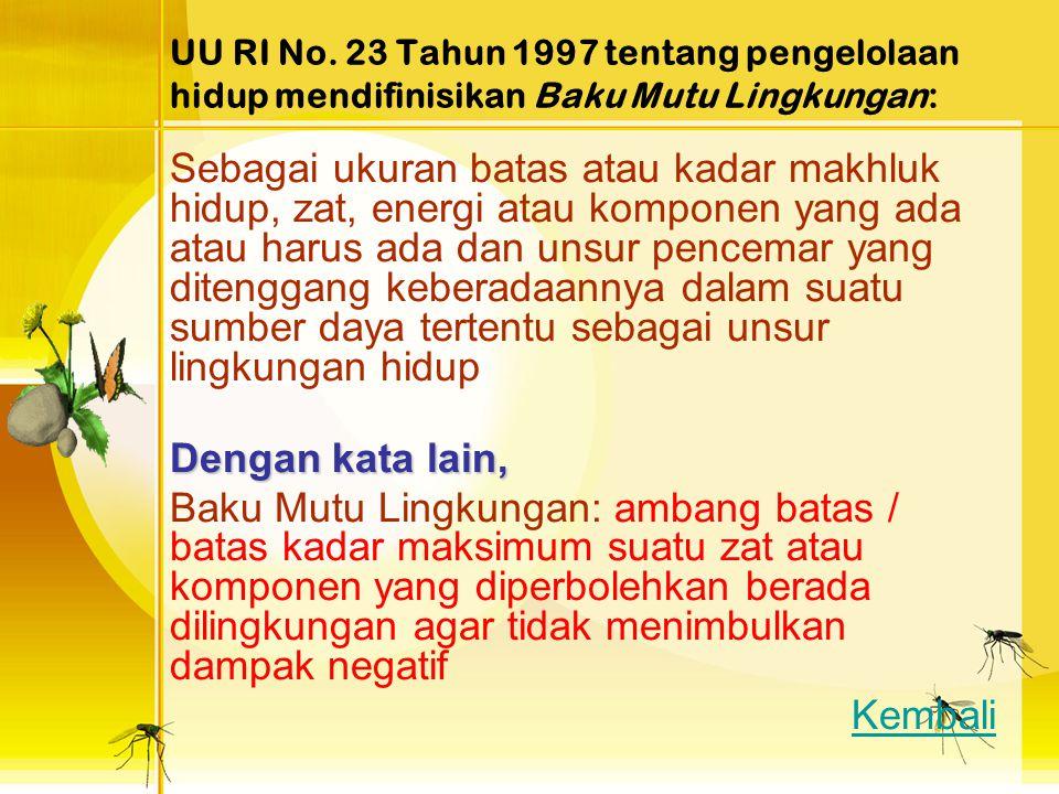 PENGERTIAN Berdasarkan Peraturan Pemerintah (PP) No. 18/1999 Jo.PP 85/1999 Limbah: Sisa/buangan dari suatu usaha atau kegiatan manusia Limbah dapat me