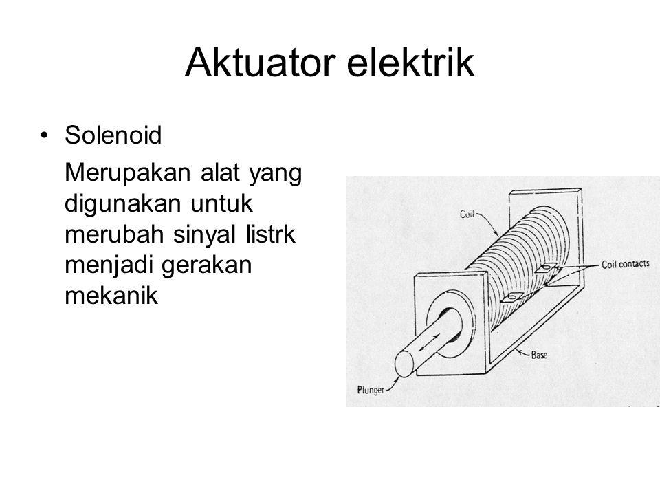 Aktuator elektrik Solenoid Merupakan alat yang digunakan untuk merubah sinyal listrk menjadi gerakan mekanik