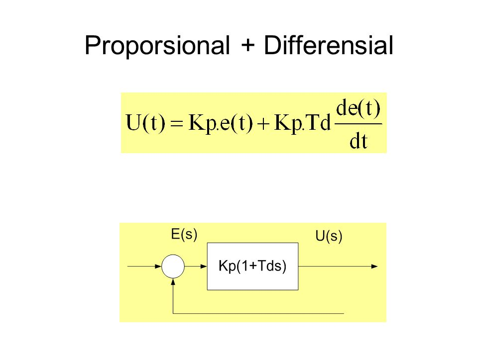 Proporsional + Differensial